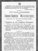 MOLENBERGHS Joannes Baptista