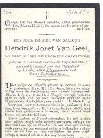 VANGEEL Henricus Josephus