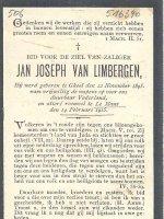 VAN LIMBERGEN Joannes Josephus