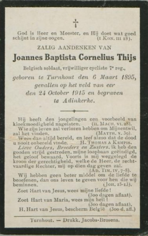 Thys Joannes Baptista Cornelius