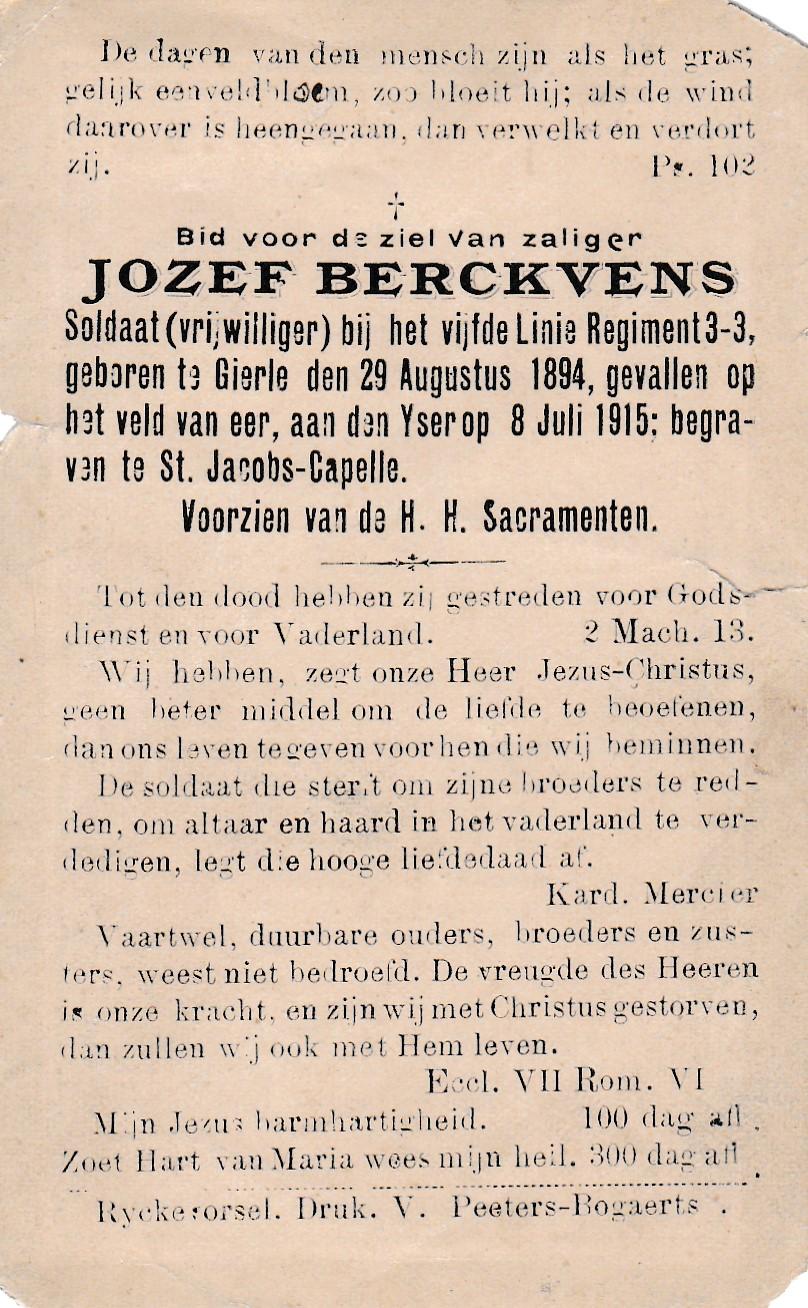 Berckvens Jozef August
