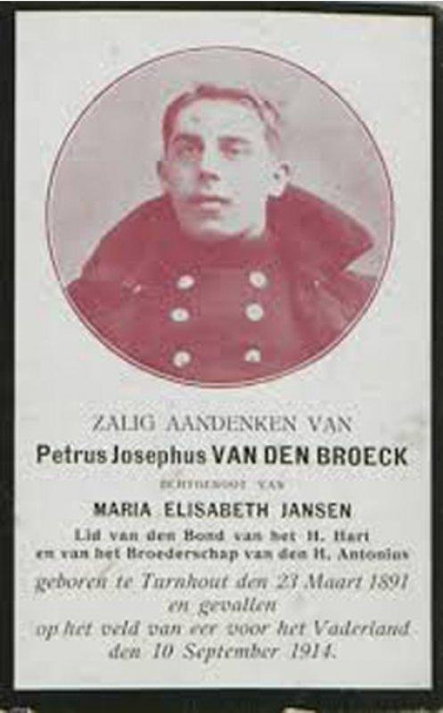 Vanden Broeck Petrus Jozef