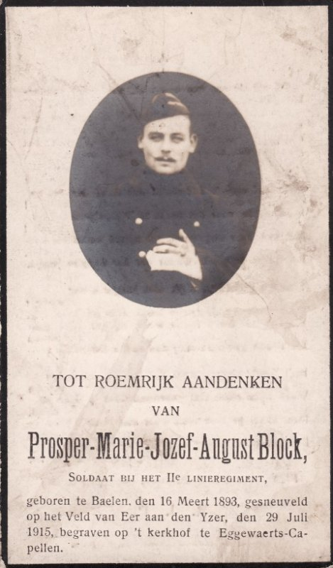 BLOCK Prosper Maria Josef August
