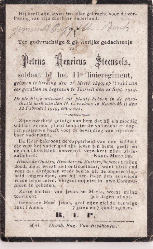 STEENSELS Petrus Hendrik