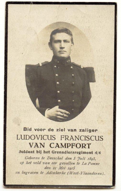 VAN CAMPFORT Lodewijk Frans
