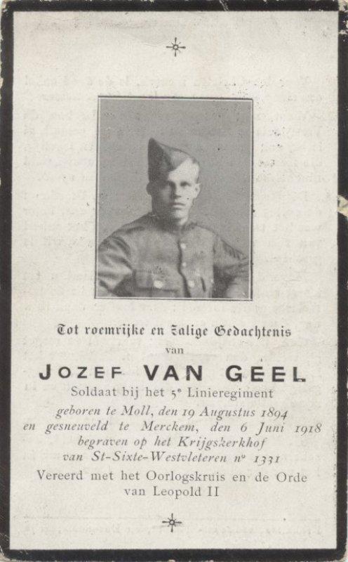 VAN GEEL Jozef