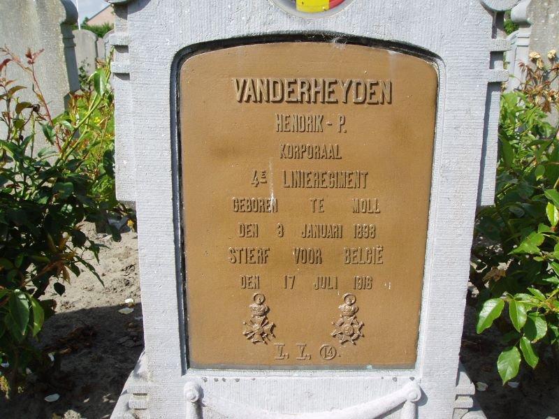 VANDERHEYDEN Peter Hendrik