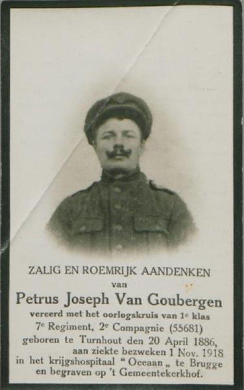 Van Goubergen  Petrus Josephus (Jozef)